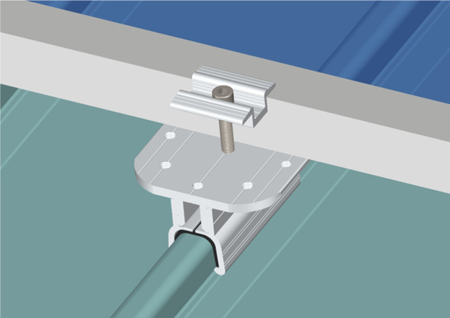 Sloping Roof--Railess Roof Mounting System